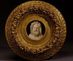 Micromosaic Placa con la cabeza de Júpiter, 1808. Clemente Ciuli Roma desde 1800 hasta 1850.