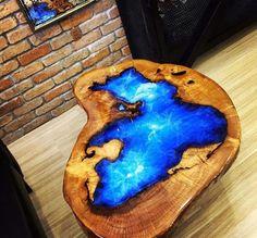 40 Amazing Resin Wood Table For Your Furniture. For several reasons, resin furniture has become a popular alternative to wooden furniture created for outdoor use. It looks similar to painted wood, but. Epoxy Wood Table, Epoxy Resin Table, Wooden Tables, Wooden Vase, Resin Crafts, Resin Art, Wood Crafts, Wood Table Design, Table Designs