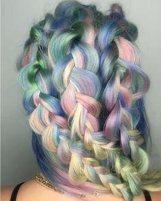 Unicorn braids for days... ✨ #hairspiration via @shelleygregoryhair
