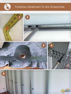 Ein Trockenbau Ständerwerk bildet die Grundlage eines jeden Trockenbaus. Gerade bei Errichtung einer Vorsatzschale ist das Ständerwerk von großer Bedeutung.