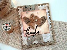 Sizzix Tutorial | Heartfelt Thanks card by Audrey Pettit