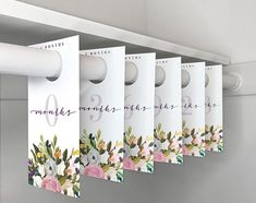floral baby closet dividers aren t they pretty floral printable