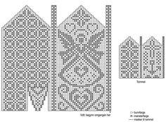 strikkesida: Hold hendene varme og velkledde i kulden. Knitting Charts, Knitting Stitches, Knitting Designs, Knitting Needles, Knitting Projects, Knitting Patterns, Knitted Mittens Pattern, Knit Mittens, Knitted Gloves