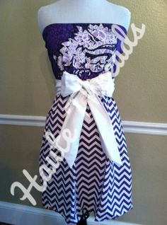 TCU Horned Frogs Texas Christian University gameday dress  by hautethreadsboutique on Etsy, $70.00