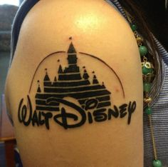 A Walt Disney Production Tattoo -  Tattoo Ideas and Pictures Enjoy! http://www.tattooideascentral.com/walt-disney-production-tattoo/