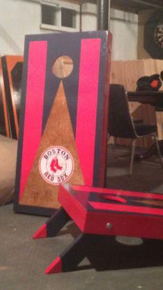 Boston Red Sox Cornhole boards  check out MCB @ www.facebook.com/MckinnonCornholeBoards