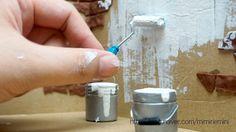 미니어쳐 페인트통& 롤러를 만들어서 방에 페인트칠 했어요 +ㅁ+ 캬캬 : 네이버 블로그