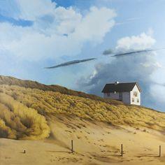 Painting: Rob Donders   Oil on canvas - HUIS OP HET DUIN
