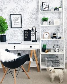 Nowadays, everyone wants a home office to work on problems that have just taken home from work, however, that is not the reason for the room to be boring! Below are some concepts of decorating a home office that can put some enthusiasm in your home office Design Room, Interior Design, Simple Interior, Interior Modern, Scandinavian Interior, Home Interior, Wall Design, Home Office Space, Home Office Design