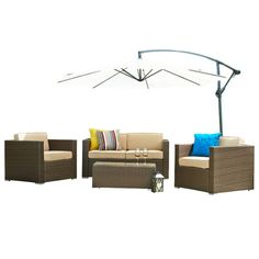 Found it at AllModern - Cane Garden 5 Piece Seating Group with Cushions http://www.allmodern.com/deals-and-design-ideas/p/Conversation-Sets-Cane-Garden-5-Piece-Seating-Group-with-Cushions~LPRF1004~E22457.html?refid=SBP