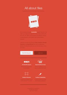 Email newsletter design by OmniGraffle - love the sold red. interesting idea