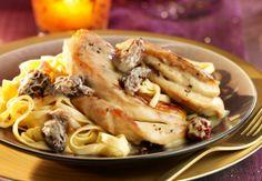La fricassée de chapon aux morilles Un bon petit plat mijoté pour toute la famille. Voir la recette de la fricassée de chapon aux morilles