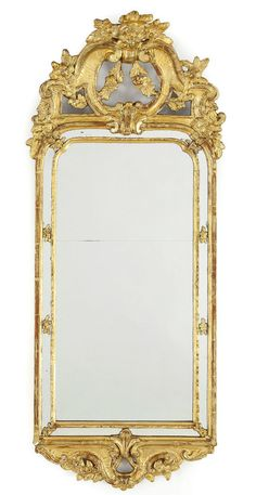 HOCHFEINER ORIGINAL SPIEGEL BAROCK UM 1760 ROKOKO 102 cm Wandspiegel