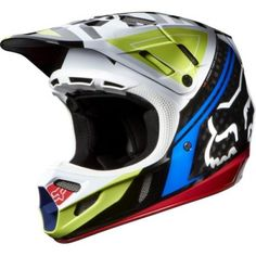 Capacete Fox Racing V4 Intake Helmet Black Red #Capacete #Fox Racing