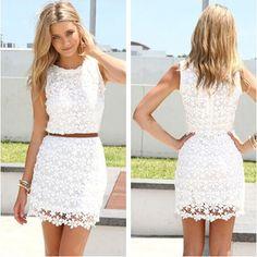 2014 Summer Sleeveless O neck Slim Package Hip Lace Vest White Dress Without Belt Crochet Vestidos Vestido De Renda Branco-in Dresses from Apparel & Accessories on Aliexpress.com | Alibaba Group