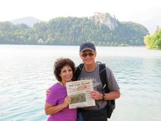Castle at Lake Bled   Photo posted by: Kathy Torkar   Jim & Kathy Torkar at Lake Bled in Slovenia. The castle was built in the eleventh century.