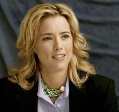 This is the picture I brought to the hairstylist. My hair color is a bit darker (light brown)-- Tea Leoni in Madame Secretary