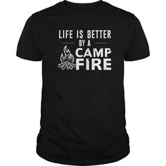 CAMP FIRE T Shirts, Hoodies. Check price ==► https://www.sunfrog.com/LifeStyle/CAMP-FIRE-Black-Guys.html?41382