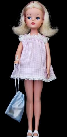 vintage Sindy dolls from the 1960s by Pedigree. I had one and my Auntie Phyll knitted her lots of outfits.