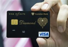 Visa Infinite (A card with not only a .02 carat diamond, but trimmed with real gold. If you lose it, this is one card they won't replace for...