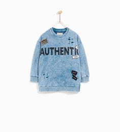 'AUTHENTIC' FADED SWEATSHIRT - NEW IN-BOY   4-14 years-COLLECTION SS/17   ZARA United Kingdom