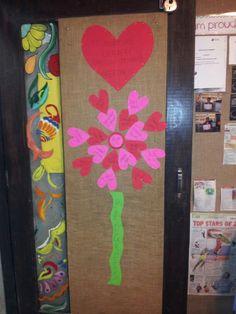 Valentine classroom door decor!!