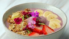 Breakfast is the most important meal of the day! Elevate your smoothie game with Pure Leaf Hibiscus Iced Tea to make the prettiest and Tasty-est smoothie bowl you've ever seen! Healthy Sweet Snacks, Healthy Meal Prep, Sweet Treats, Healthy Food Alternatives, Healthy Recipes, Baking Recipes, Whole Wheat Pizza Crust Recipe, Clean Eating Snacks, Healthy Eating