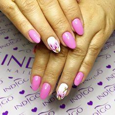 by Agata Kaczmarek Indigo Young Team :) Follow us on Pinterest. Find more inspiration at www.indigo-nails.com #nailart #nails #indigo #pink #pastel #flower
