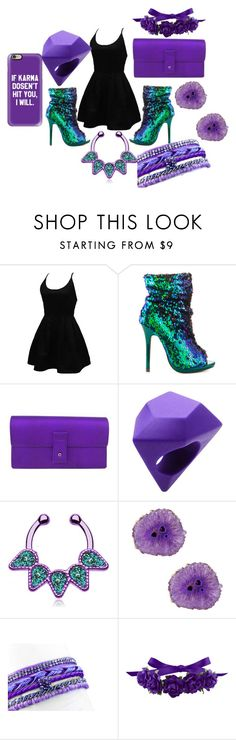 """""""Dare To Stare"""" by nudge-411 ❤ liked on Polyvore featuring WithChic, Liliana, Gucci, Marc by Marc Jacobs, Panacea and Casetify"""