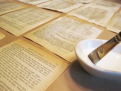 Strengthen old pages with Mod Podge