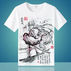 Half Demon Cute Inuyasha Sit Down Yokai Japanese Anime Manga Black T-shirt S-6XL