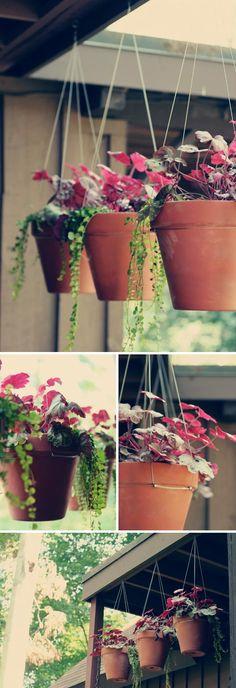 Hanging Terra Cotta Pots