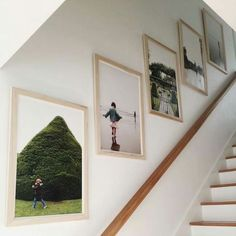 Photo gallery as you come down the stairs