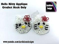 Rainbow Loom Hello Kitty Crochet Hook Only Applique - Loomless Amigurumi