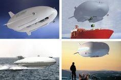 Tyto vzducholodě mohou operovat také nad vodami jako doprovody flotily, ponorek nebo k zásobování lodí. Zdroj: Hybrid Air Vehicles