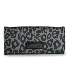 Love this Black & Gray Skull Leopard Wallet by Loungefly on #zulily! #zulilyfinds