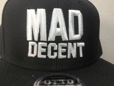 MAD Decent raised embroidery by Mosaic Threads.