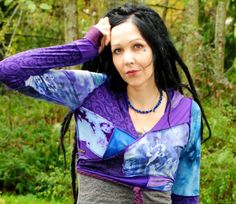 Festival Hoodie Gypsy Wrap top Festival by IntergalacticApparel