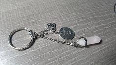 Porte-clés en pierre fine de quartz rose avec breloques coeur Quartz Rose, Snowflake Obsidian, Chakra, Snowflakes, Etsy, Flakes, Stone, Chakras