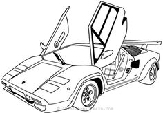 Lamborghini Free Coloring Page - Lamborghini S. is an Italian brand and manufacturer of luxury sports cars and SUV's based in Sant'Agata Bolognese and Lamborghini Trattori tractor. Race Car Coloring Pages, Sports Coloring Pages, Coloring Pages To Print, Free Printable Coloring Pages, Coloring Book Pages, Coloring Pages For Kids, Coloring Sheets, Kids Coloring, Adult Coloring