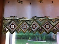 The valance I made I made with hardanger embroidery