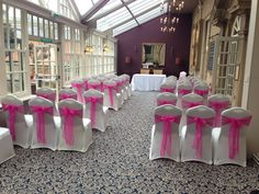 Hot pink at The Manor Hotel Yeovil