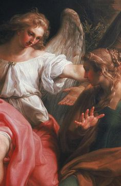 Pompeo Batoni ~ Detail from 'Three Marys at the Grave' (1747)