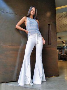 Wide Leg Jeans, Bell Bottoms, Bell Bottom Jeans, White Jeans, Flare, Women Wear, Legs, How To Wear, Products