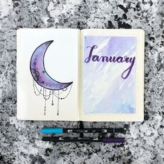 Oh my!  reposted with permission from @lilylightsbujo -  first post  hi everybody my name is halina! i've been keeping a bullet journal since 2017 and wanted to share my interest with others online. i hope you will like this account  . . . #bujonewbie #bujotime #mildliner #plannergirl #January #aesthetic #moderncalligraphy #studygram #studyblr #moon #studyspo #notes #bestofbujos #amandarachdoodles #bulletjournalgroup
