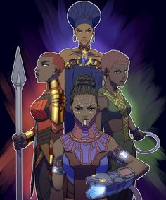 The powerful and beautiful women of Wakanda