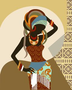 African American Wall Decor african woman, african american art, black woman painting, african