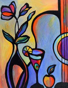 43 Cubism Art Movement Painting Work I Music Painting, Guitar Painting, Guitar Art, Painting Abstract, Painting Canvas, Cubism Art, Jazz Art, Small Canvas Art, Canvas Size