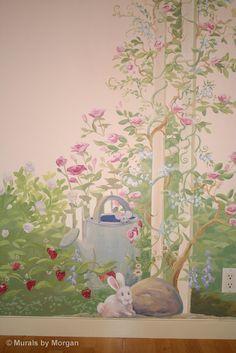 Beach Murals For Kids Rooms Rose Garden Nursery Mural