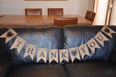 Thank You banner - can be used for wedding photos, etc. Available from AJ's Craft Creations https://www.facebook.com/ajs.craft.creations